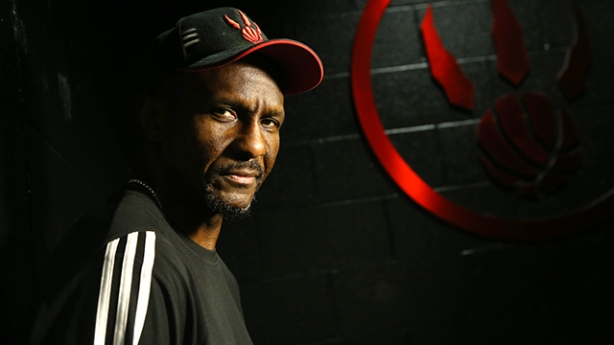 Portrait shot of the coach Dwane Casey, probably the biggest star on the Raptors, photographed at th