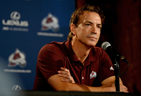 Avs veterans report back to the Pepsi Center